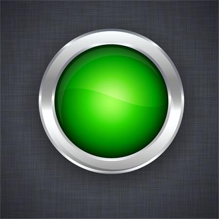 linen texture: En blanco el bot�n verde en 3d textura de lino.