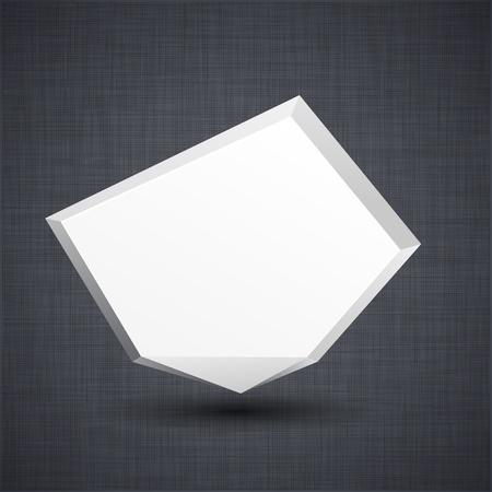 linen texture: Ilustraci�n del globo moderno de papel blanco sobre el anuncio de la textura de lino. Vectores