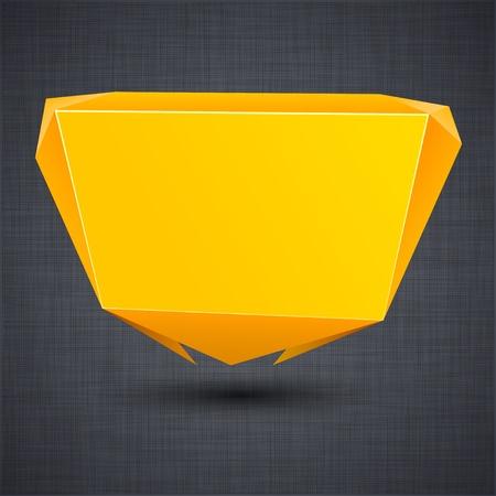 linen texture: Ilustraci�n de globos de papel moderna anuncio de naranja sobre la textura de lino. Vectores