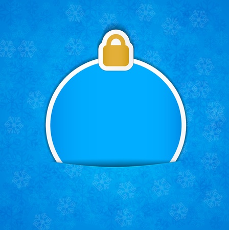 Vector illusttation of christmas blue paper decorations. Vector