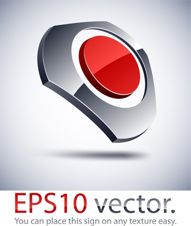 Vector illustration of 3D harmony business logo.  Vector
