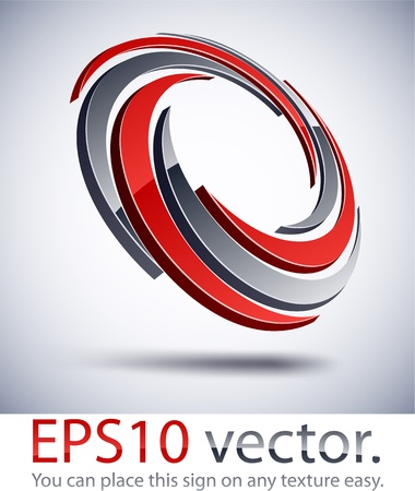 internet logo: Vector illustration of 3D impeller abstract business logo.