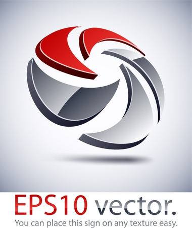Vector illustration of 3D mixing abstract business logo. Stock Vector - 11190160