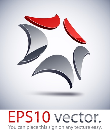 Vector illustration of 3D technology abstract business logo. Vector