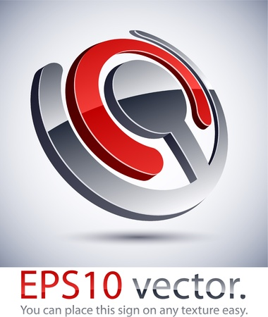 salient: Vector illustration of 3D joint abstract business logo.