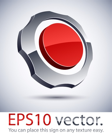 salient: Vector illustration of 3D abstract gear business logo.