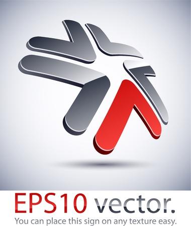 distinct: Vector illustration of 3D abstract star business logo.  Illustration