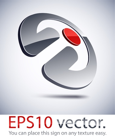 Vector illustration of 3D penetration abstract business logo. Vector