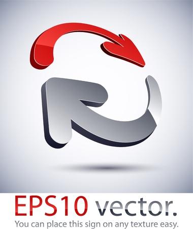 Vector illustration de logo d'entreprise 3D abstrait. Logo