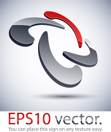 Vector illustration of 3D scroll abstract business logo. Stock Vector - 11218880