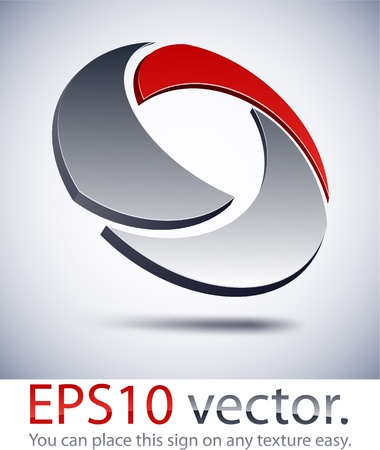 internet logo: Vector illustration of 3D technology abstract business logo.