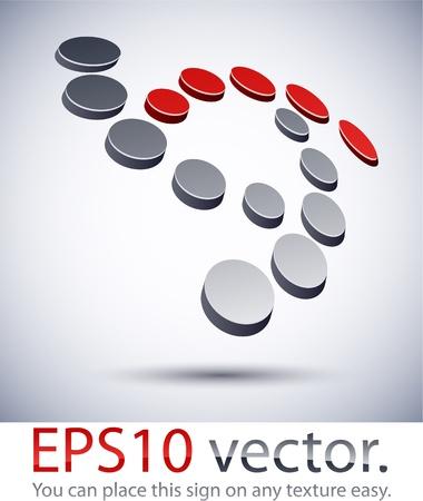 Ilustración vectorial de 3D logotipo abstracto de negocio digital. Logos