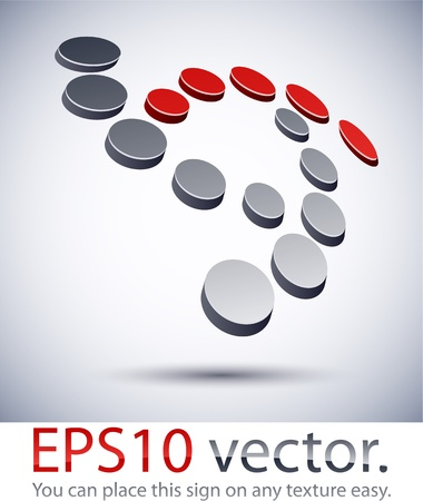 Vector illustration of 3D abstract digital business logo.