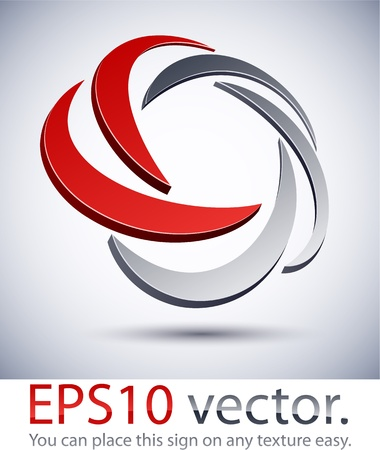 harmony idea: Vector illustration of 3D scroll abstract business logo.  Illustration