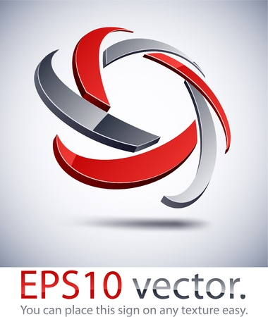 star logo: Vector illustration of 3D star abstract business logo. Illustration