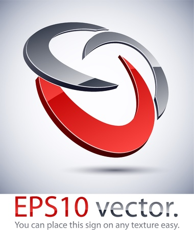 company logos: Vector illustration of 3D abstract business logo.