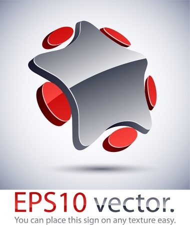 Vector illustration of 3D star abstract business logo. Vector