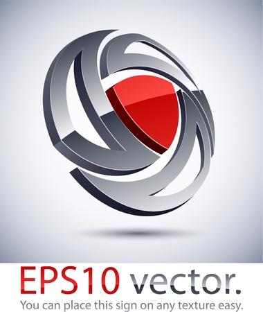 harmony idea: Vector illustration of 3D abstract business logo.