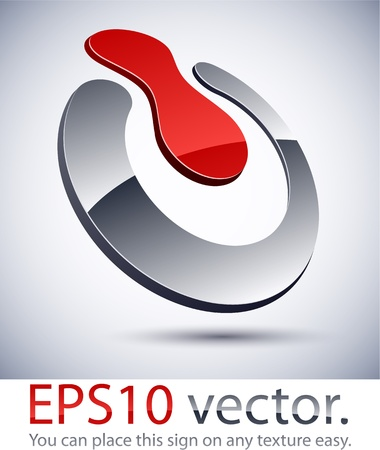 slogan: Ilustración vectorial de 3D logotipo abstracto negocios interruptor.