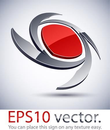 shuriken: Ilustraci�n vectorial de la hoja logo 3D de negocios abstracto. Vectores