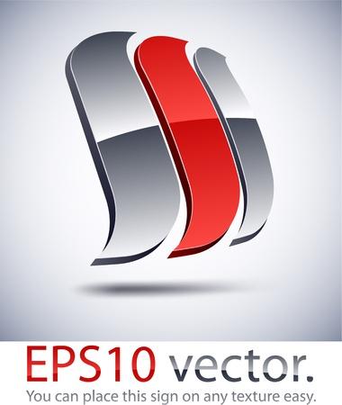 Vector illustratie van 3D abstract zeil bedrijfslogo. Logo