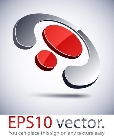 spirale: Vector Illustration der abstrakten 3D-Ring Business-Logo.