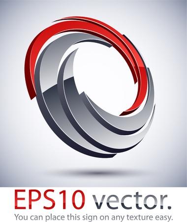 Vektor-Illustration von 3D-Scroll-abstrakten Business-Logo. Logo