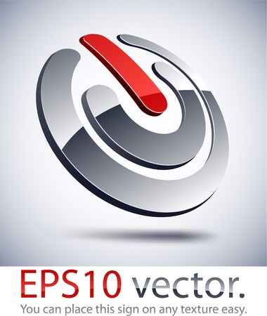 Vector illustration of 3D abstract switch business logo. Vector