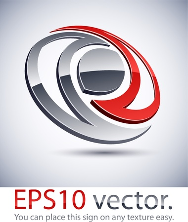 distinct: Vector illustration of 3D abstract business logo.