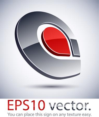 letras cromadas: Ilustraci�n vectorial del logotipo 3D negocio abstracto.
