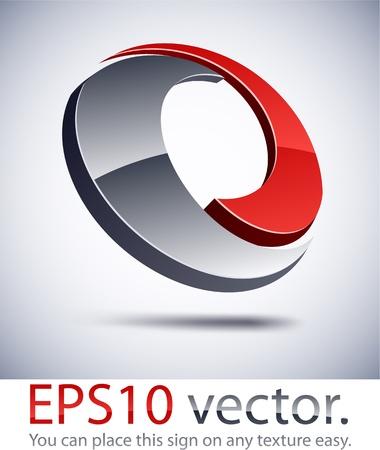 distinct: Vector illustration of 3D technology abstract business logo. Illustration