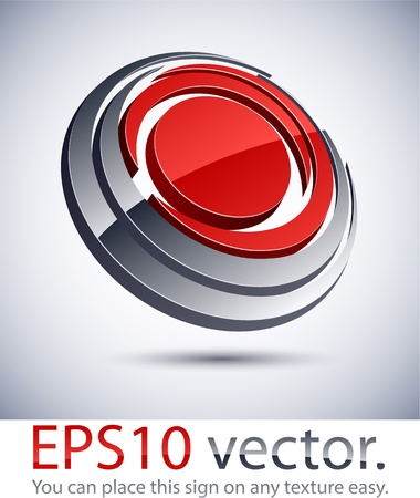 Vector illustration of 3D round abstract business logo. Stock Vector - 11331122