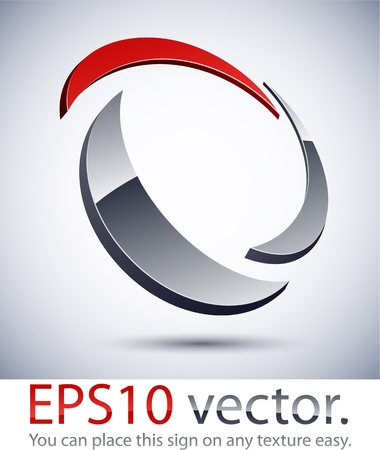 reflection internet: Vector illustration of 3D abstract business logo.
