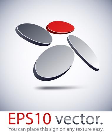 elipse: Ilustración vectorial del logotipo 3D negocio abstracto.