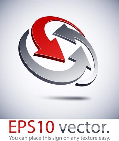 loghi aziendali: Illustrazione vettoriale di 3D logo aziendale astratto.