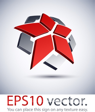 Vector illustration of 3D abstract star business logo. Stock Vector - 11331136