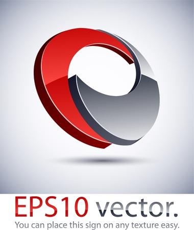 Ilustración vectorial de logo en 3D de negocios abstracto. Logos