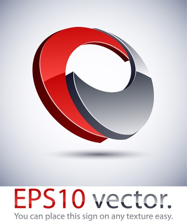 web 2: Vector illustration of 3D abstract business logo.