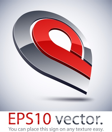 internet logo: Vector illustration of 3D abstract business logo.