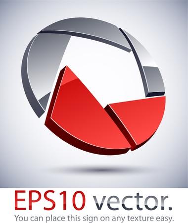 Vector illustration of 3D abstract vignetter business logo. Stock Vector - 11348851