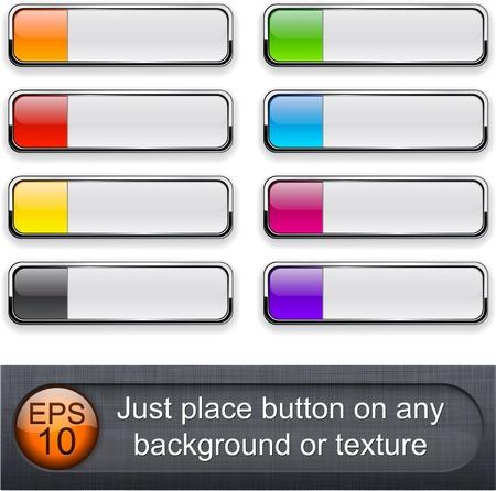 knop: Verschillende blending modes laag werden gebruikt. U kunt eenvoudig plaatsen knop op een achtergrond of textuur. Stock Illustratie