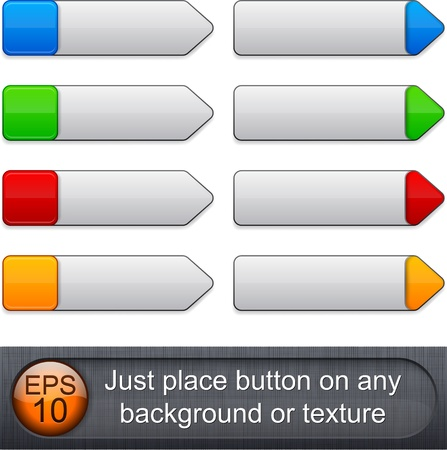 Blank web buttons for website or app. Vector
