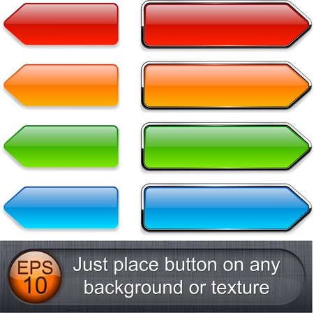 Blank web buttons for website or app.