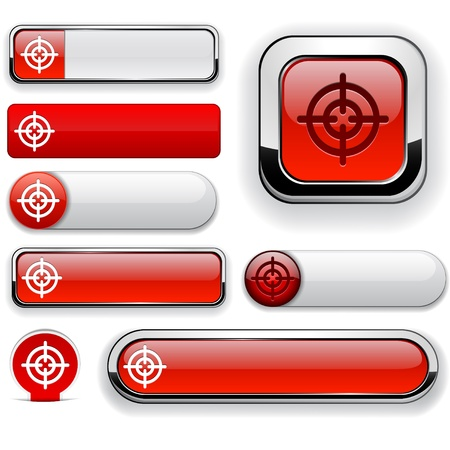 Hindsight web red buttons for website or app. Vector eps10. Stock Vector - 11937077