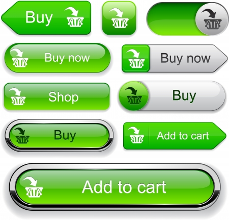 chrome cart: Buy web orange buttons for website or app.