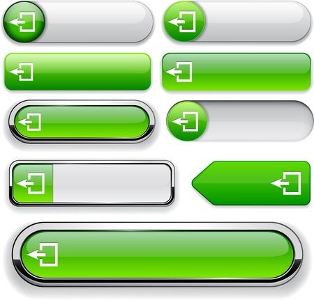 Salir elementos verdes de diseño para el sitio web o aplicación. Foto de archivo - 12758053