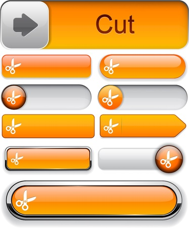 orange cut: Cortar los elementos de color naranja de dise�o de sitio web o aplicaci�n