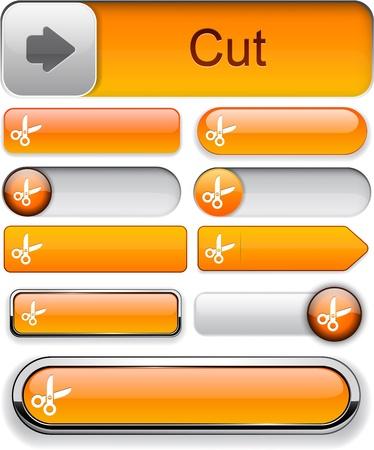 Cut orange design elements for website or app Stock Vector - 12758071