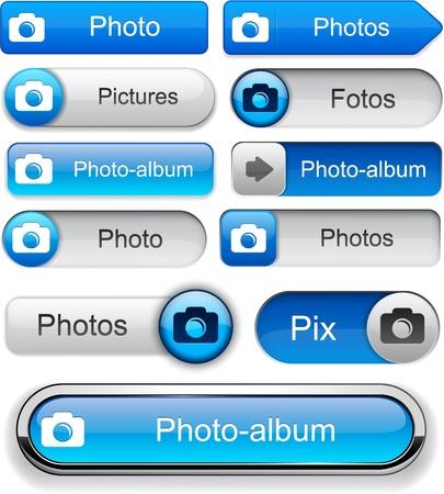 pix: Photo blue design elements for website or app