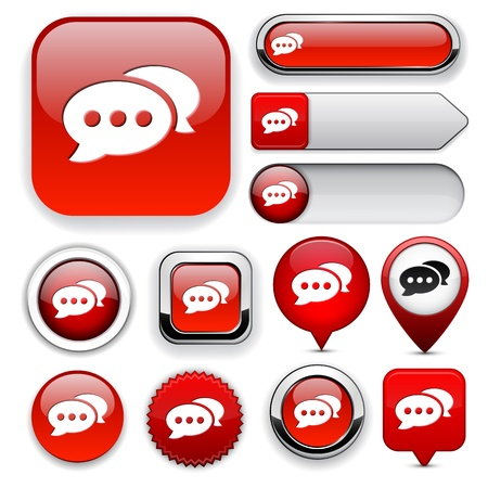Forum red design elements for website or app  Vector eps10   Vector